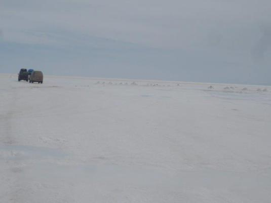 Salar de Uyuni. Hacia el hotel de sal